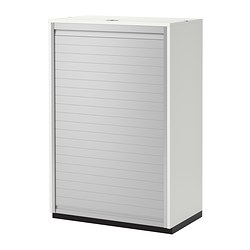 GALANT roll-front cabinet, white Width: 80 cm Depth: 45 cm Height: 120 cm