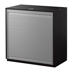 GALANT, Roll-front cabinet, black-brown