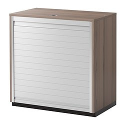 "GALANT roll-front cabinet, gray Width: 31 1/2 "" Depth: 17 3/4 "" Height: 31 1/2 "" Width: 80 cm Depth: 45 cm Height: 80 cm"