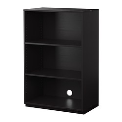 GALANT shelf unit, black-brown Width: 80 cm Depth: 45 cm Height: 120 cm