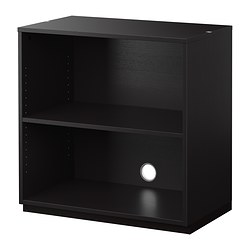 GALANT shelf unit, black-brown Width: 80 cm Depth: 45 cm Height: 80 cm