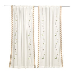 "VANDRING pair of curtains Length: 69 "" Width: 47 "" Package quantity: 2 pack Length: 175 cm Width: 120 cm Package quantity: 2 pack"