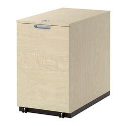 GALANT storage unit for printer, birch veneer Width: 45 cm Depth: 80 cm Height: 72 cm