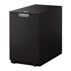 GALANT storage unit for printer, black-brown Width: 45 cm Depth: 80 cm Height: 72 cm