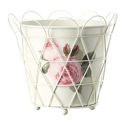 ROSÉPEPPAR plant pot, off-white Outside diameter: 18 cm Max. diameter flowerpot: 12 cm Height: 16 cm