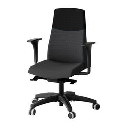 VOLMAR swivel chair with armrests, grey/black dark grey Tested for: 110 kg Width: 74 cm Depth: 74 cm