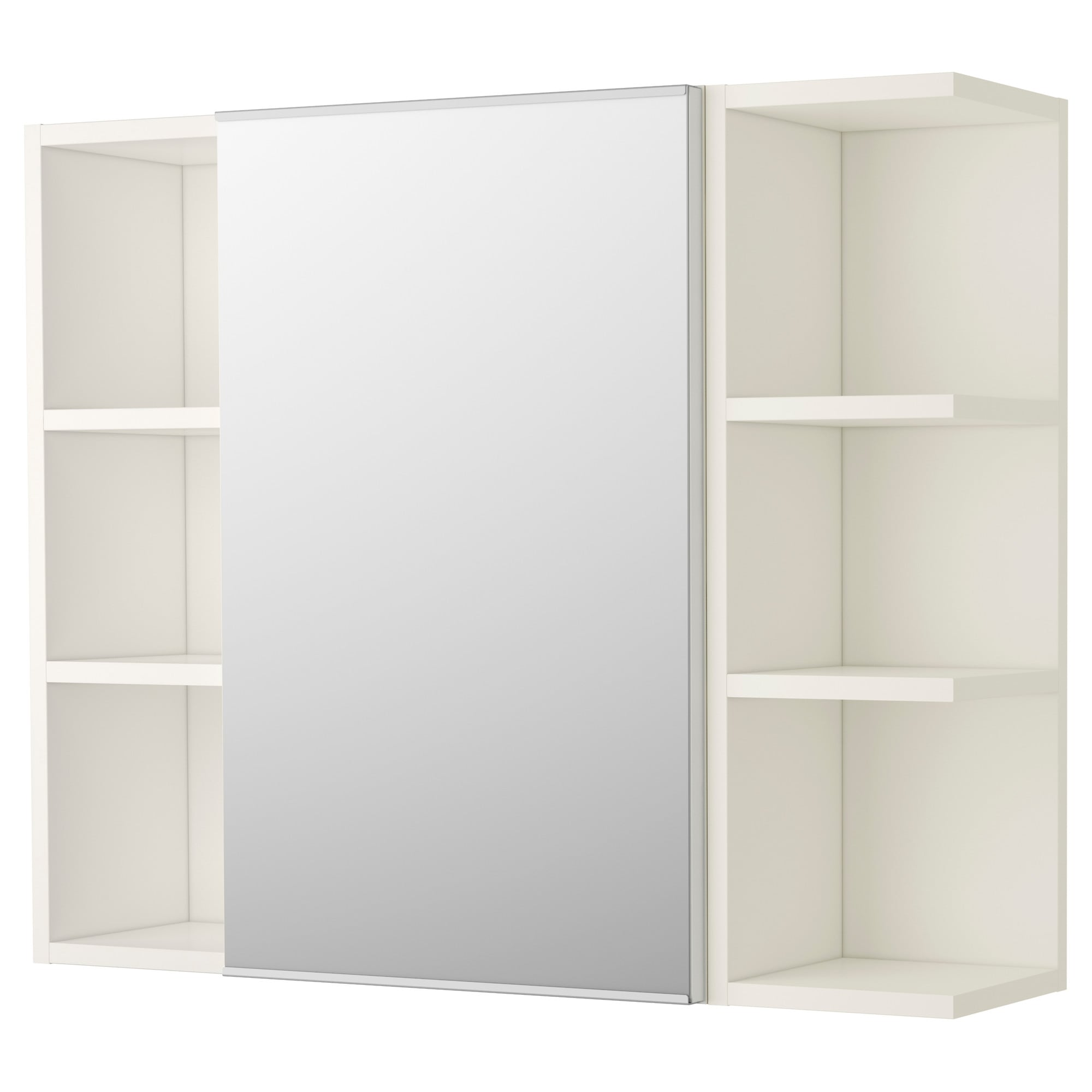 Bathroom Mirror Door lillÅngen mirror cabinet 1 door/2 end units - white - ikea