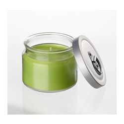 FLÄRDFULL scented candle in glass, green Diameter: 9 cm Height: 8 cm Burning time: 25 hr
