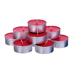 VINTER 2015 scented candle in metal cup, red, Winter berries Diameter: 59 mm Burning time: 9 hr Package quantity: 12 pack