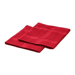 IRIS tea towel, red Length: 70 cm Width: 50 cm Package quantity: 2 pieces