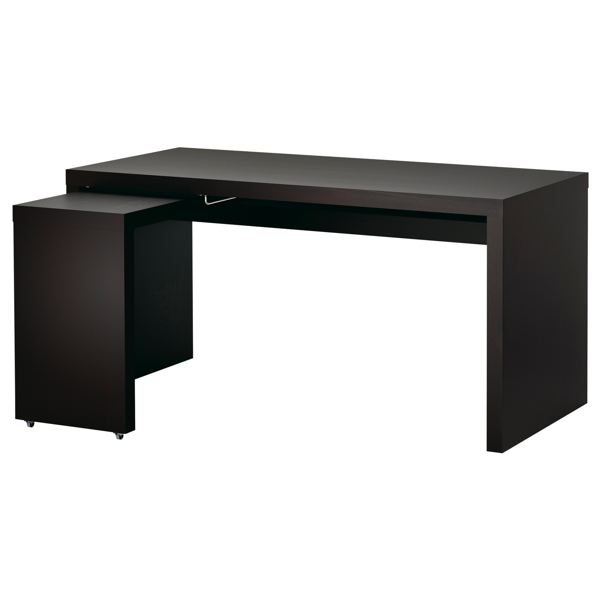 Ikea gustav  MALM Desk with pull-out panel - black-brown - IKEA