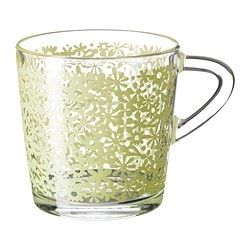 "GODTA mug, green Height: 3 "" Volume: 7 oz Height: 8 cm Volume: 21 cl"
