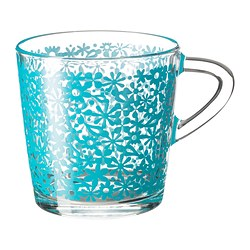 "GODTA mug, turquoise Height: 3 "" Volume: 7 oz Height: 8 cm Volume: 21 cl"