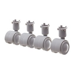 KUPOL castor, light grey Building height: 5 cm Package quantity: 4 pack