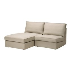 KIVIK one-seat section with chaise longue, Dansbo beige Width: 180 cm Depth: 163 cm Height: 83 cm