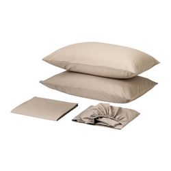 DVALA sheet set, beige