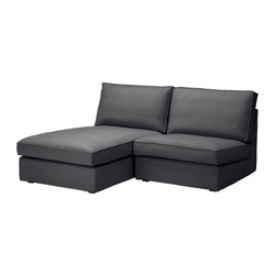 KIVIK one-seat section with chaise longue, Dansbo dark grey Width: 180 cm Depth: 163 cm Height: 83 cm