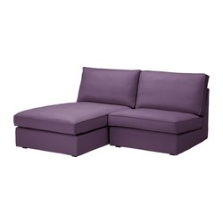 KIVIK one-seat section with chaise longue, Dansbo lilac Width: 180 cm Depth: 163 cm Height: 83 cm