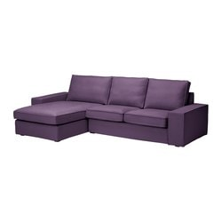 KIVIK two-seat sofa and chaise longue, Dansbo lilac Width: 280 cm Depth: 163 cm Height: 83 cm