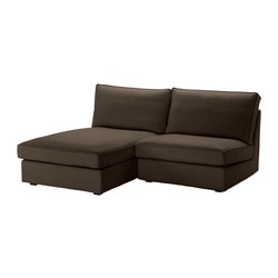 KIVIK one-seat section with chaise longue, Svanby brown Width: 180 cm Depth: 163 cm Height: 83 cm