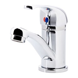 OLSKÄR wash-basin mixer tap, chrome-plated Height: 12 cm