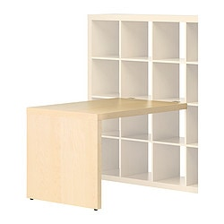 EXPEDIT desk, birch effect Width: 115 cm Depth: 78 cm Height: 76 cm