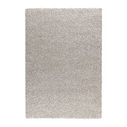 "ALHEDE rug, high pile, off-white Length: 6 ' 5 "" Width: 4 ' 4 "" Surface density: 12 oz/sq ft Length: 195 cm Width: 133 cm Surface density: 3550 g/m²"