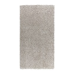 "ALHEDE rug, high pile, off-white Length: 4 ' 11 "" Width: 2 ' 7 "" Surface density: 12 oz/sq ft Length: 150 cm Width: 80 cm Surface density: 3550 g/m²"