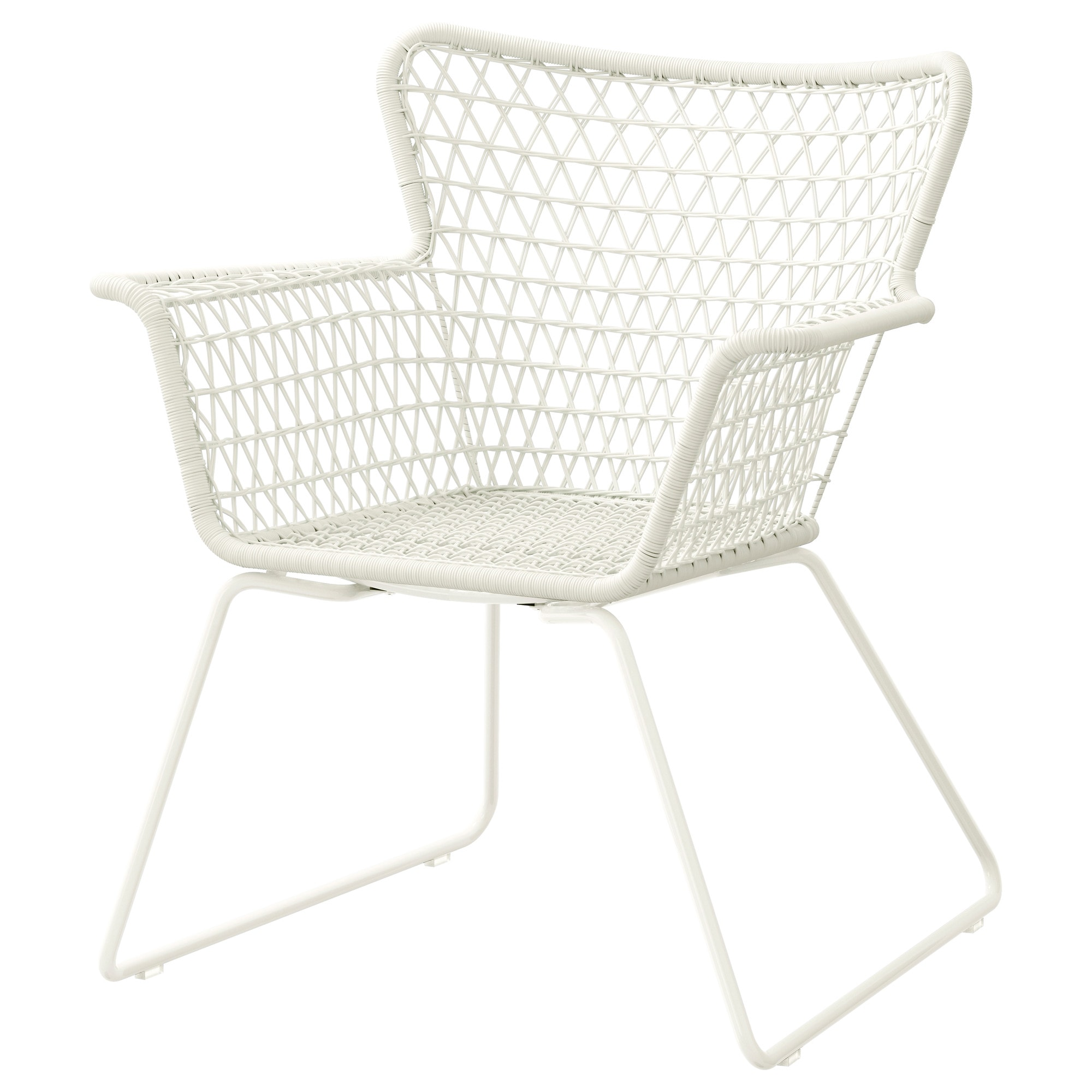 HÖGSTEN Chair With Armrests, Outdoor, White Width: 73 Cm Depth: 65 Cm