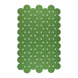 "IKEA PS 2012 rug, flatwoven, green Length: 9 ' 10 "" Width: 6 ' 1 "" Surface density: 4 oz/sq ft Length: 300 cm Width: 186 cm Surface density: 1320 g/m²"