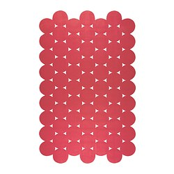 "IKEA PS 2012 rug, flatwoven, red Length: 9 ' 10 "" Width: 6 ' 1 "" Surface density: 4 oz/sq ft Length: 300 cm Width: 186 cm Surface density: 1320 g/m²"