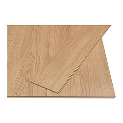 SLÄTTEN laminated flooring, oak effect Length: 138 cm Width: 19.0 cm Plank thickness: 6 mm