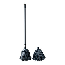 LÖDDER wet mop, grey Min. length: 90 cm Max. length: 157 cm