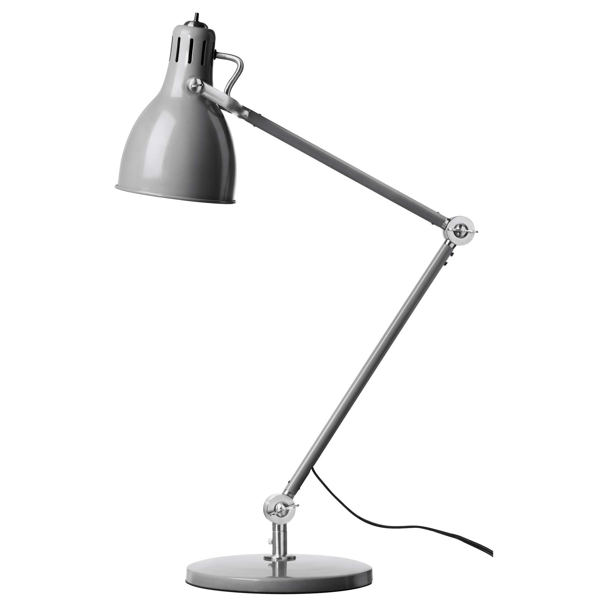 Ikea led desk lamp - Ar D Work Lamp With Led Bulb Gray Max 60 W Height 20