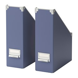 KASSETT magazine file, blue Package quantity: 2 pack Package quantity: 2 pack