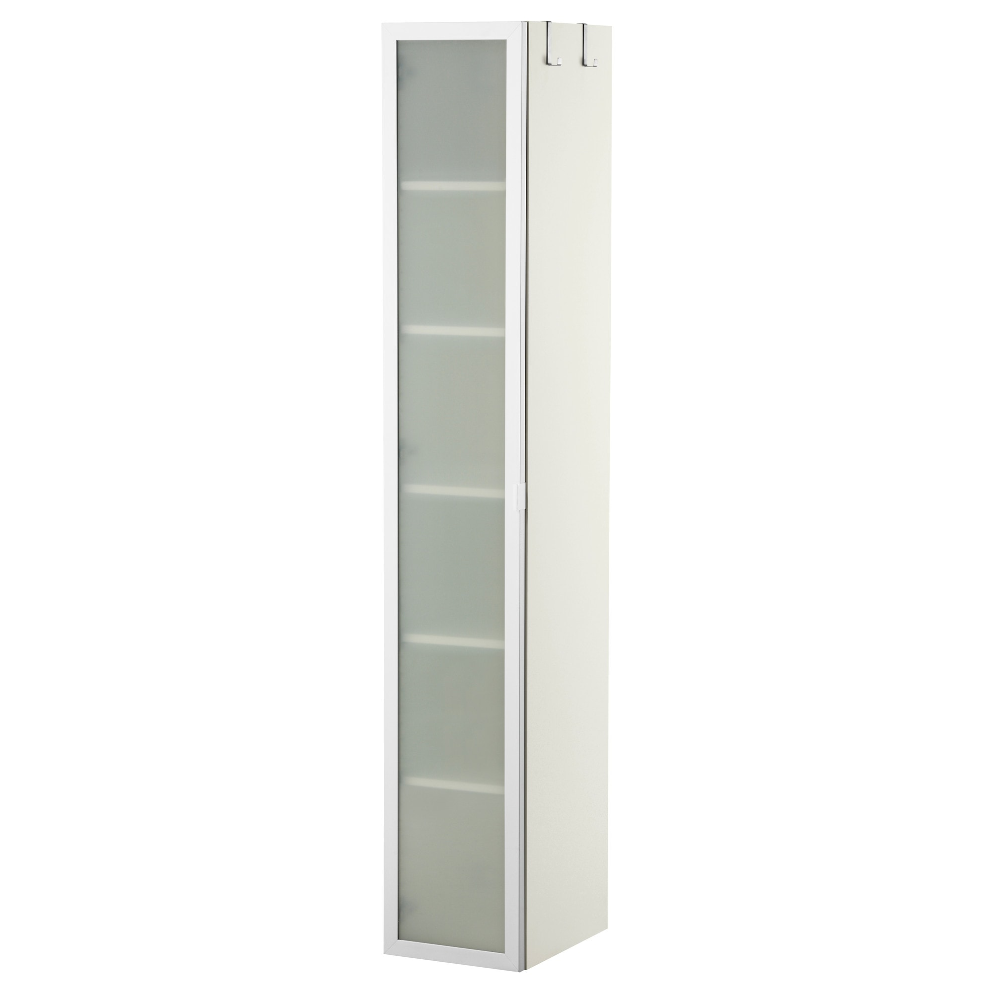 Tall bathroom storage cabinets - Lill Ngen High Cabinet White Aluminum Width 11 3 4 Depth