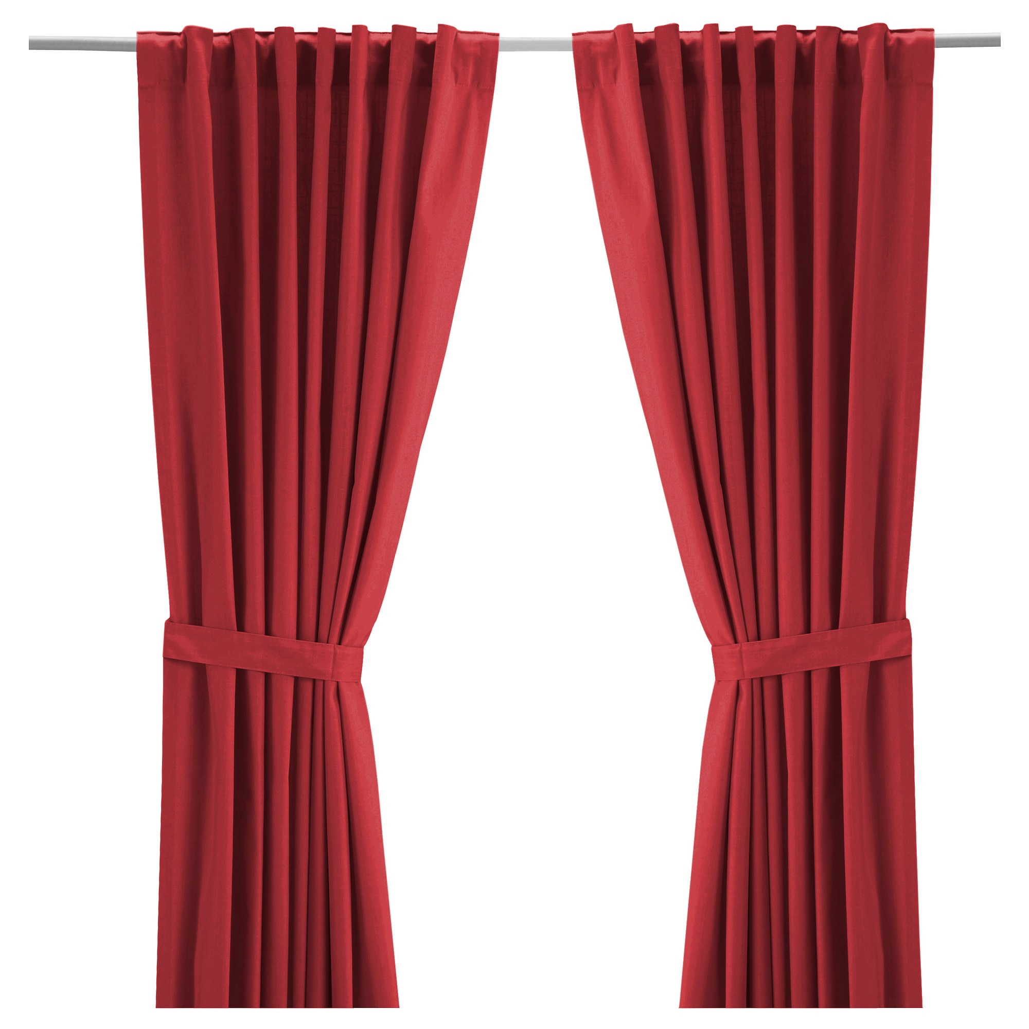 RITVA Curtains with tie-backs, 1 pair - IKEA