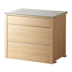 "KOMPLEMENT interior chest of drawers, birch Frame, width: 29 1/2 "" Frame, depth: 22 7/8 "" Depth of drawer: 17 3/4 "" Frame, width: 74.8 cm Frame, depth: 58.0 cm Depth of drawer: 45 cm"