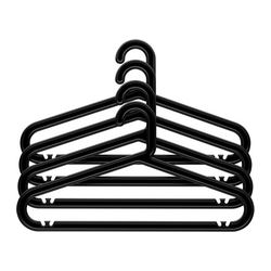 BAGIS clothes-hanger, black Width: 42 cm Height: 23 cm Package quantity: 4 pack