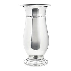 SKÖR vase, silver-colour Height: 33 cm