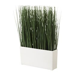 FEJKA, Artificial potted plant with pot, grass