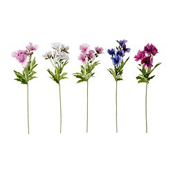 "SMYCKA artificial flower, Geranium assorted colors Height: 13 "" Height: 33 cm"
