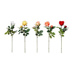 SMYCKA artificial flower, assorted colours, Rose Height: 55 cm