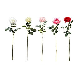 SMYCKA artificial flower, Rose assorted colours Height: 77 cm