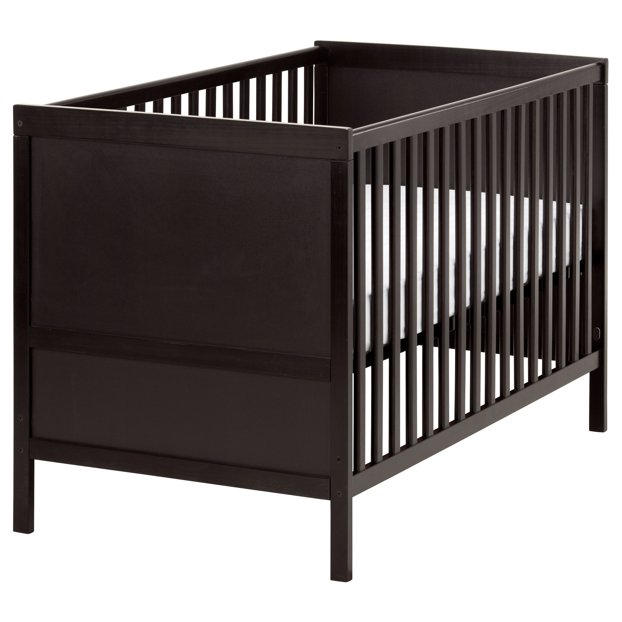 Baby bed extension uk - Sundvik Crib Black Brown Length 54 3 8 Width 29