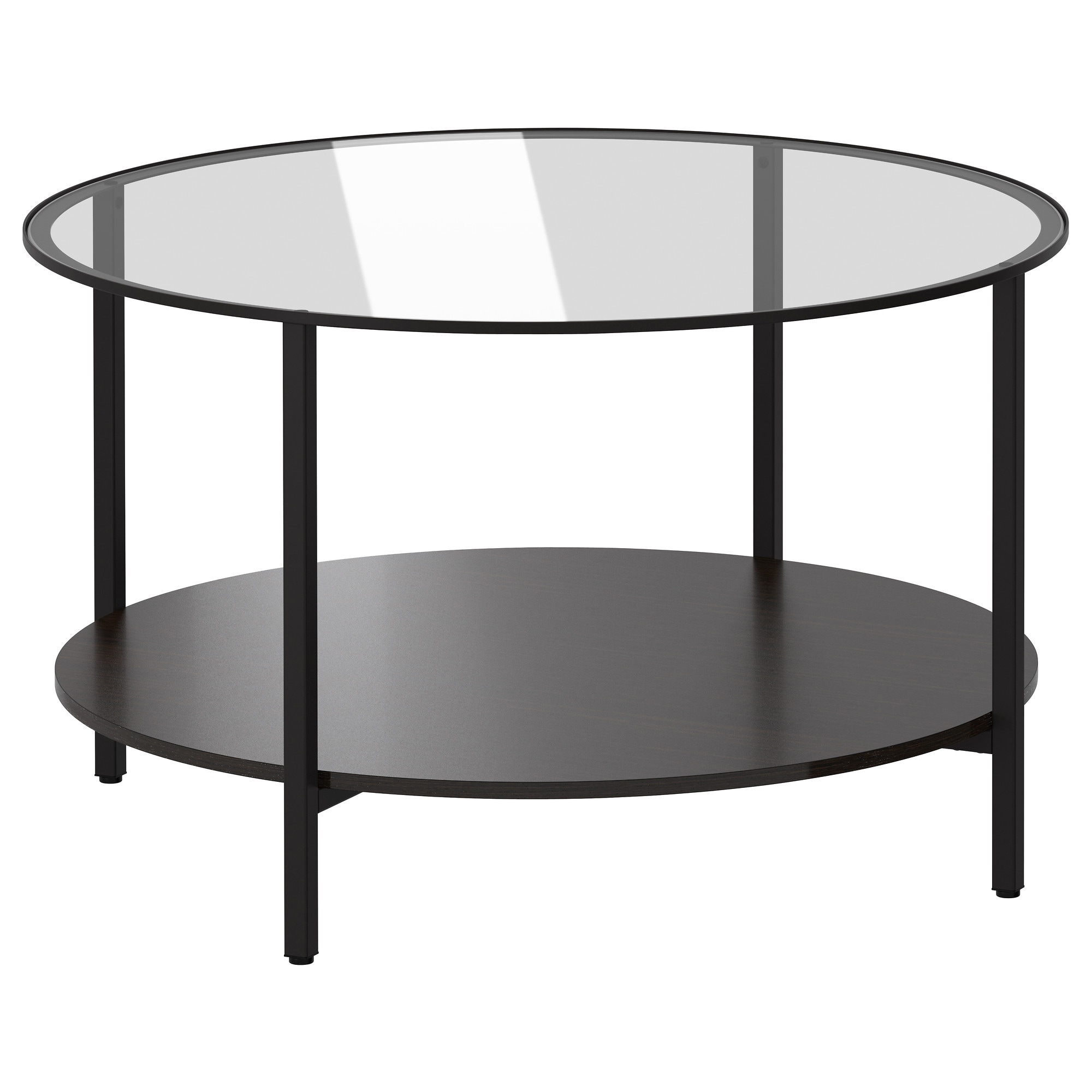 VITTSJ– Coffee table black brown glass IKEA