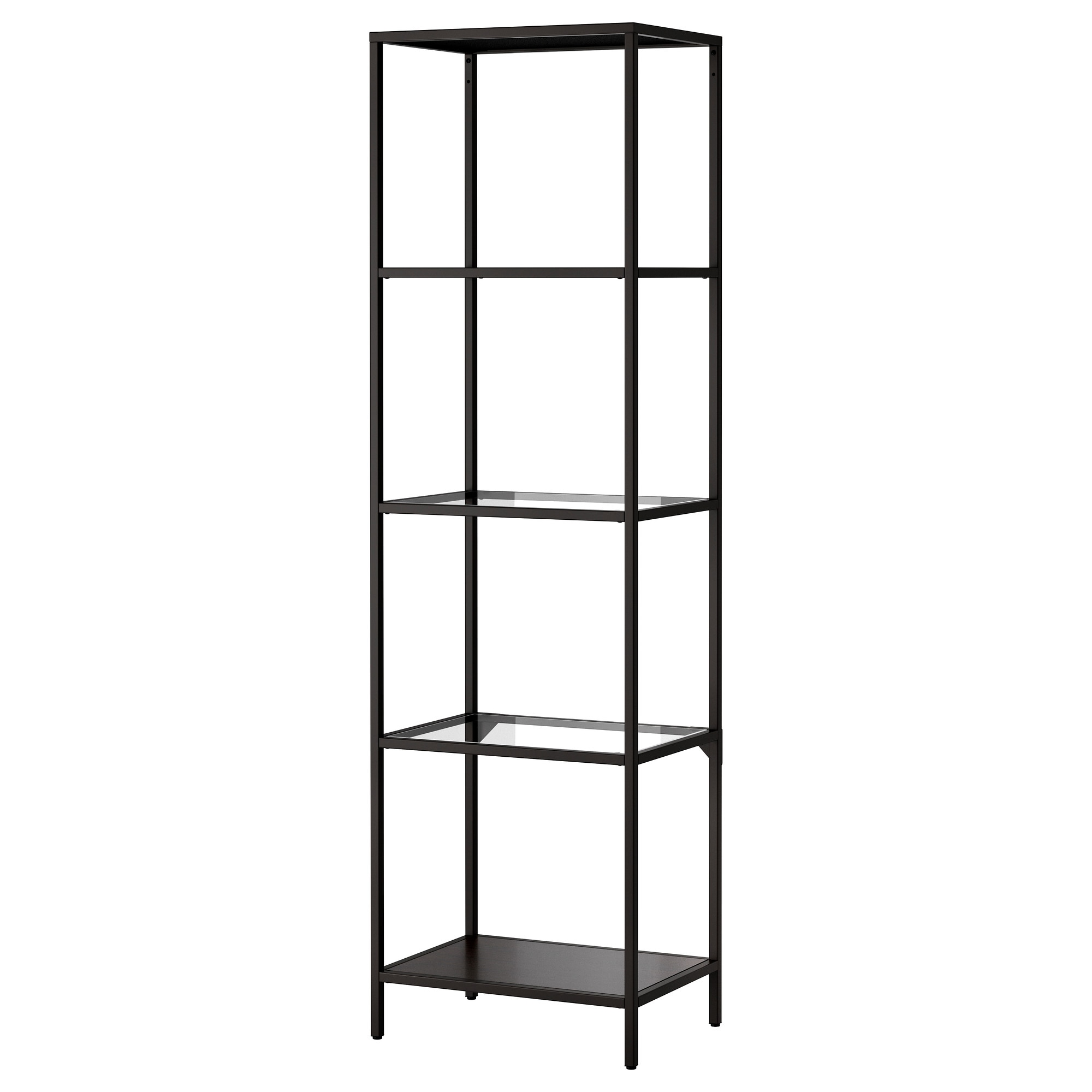 . VITTSJ  Shelf unit   black brown glass   IKEA