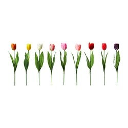 "SMYCKA artificial flower, Tulip assorted colors Height: 15 ¾ "" Height: 40 cm"
