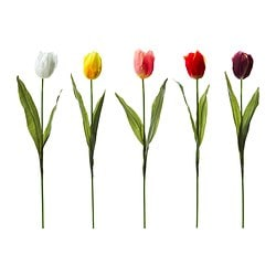 "SMYCKA artificial flower, French tulip assorted colors Height: 28 ¾ "" Height: 73 cm"