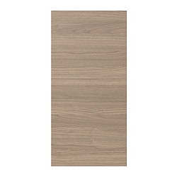 "PERFEKT SOFIELUND cover panel for base corner cabinet, walnut effect light gray Width: 27 "" Height: 30 3/8 "" Thickness: 1/2 "" Width: 68.7 cm Height: 77 cm Thickness: 1.4 cm"
